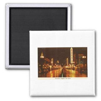 Downtown Buffalo NY at Night Vintage Magnets