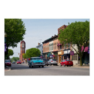 Downtown Chelsea, Michigan Poster