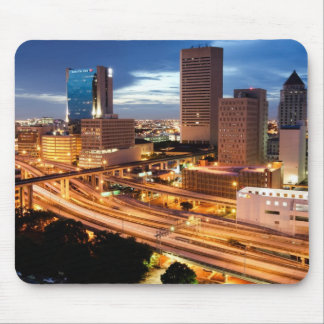 Downtown City View Mouse Pad