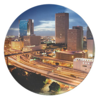 Downtown City View Plates