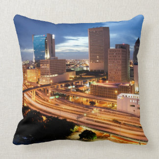 Downtown City View Throw Pillow