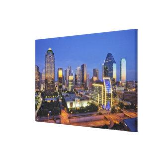 downtown dallas skyline canvas print
