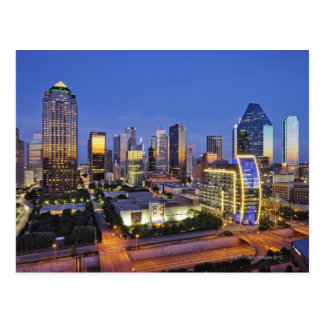 downtown dallas skyline postcard