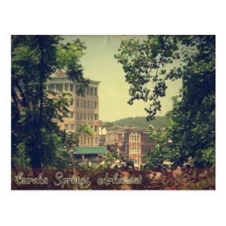 Downtown Eureka Springs Arkansas Through the Trees Postcard