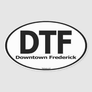 Downtown Frederick Decal Oval Sticker