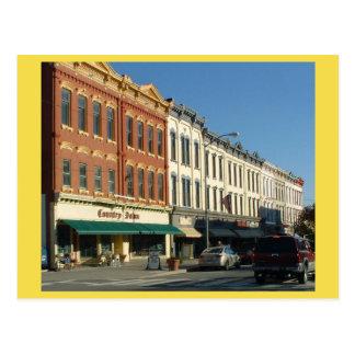 Downtown HONESDALE, Pennsylvania Postcard