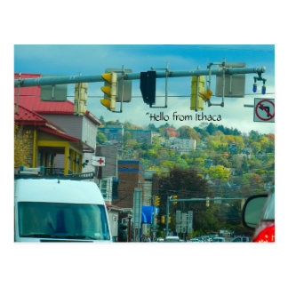 DOWNTOWN ITHACA NEW YORK postcard