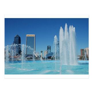 Downtown Jacksonville Florida Friendship Fountain Postcard