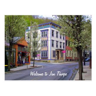 Downtown Jim Thorpe, PA Postcard