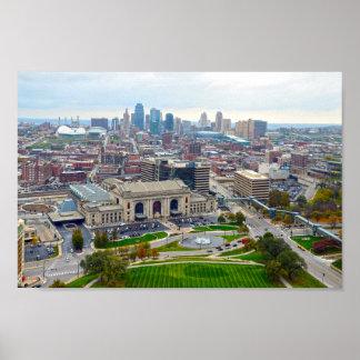 Downtown Kansas City, Missouri, Skyline Poster
