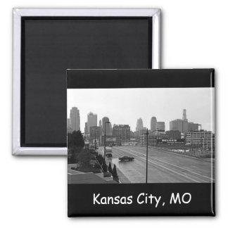 Downtown Kansas City Skyline Square Magnet