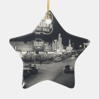 Downtown Las Vegas Retro Ceramic Ornament