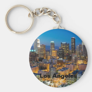 Downtown Los Angeles at Dusk Key Ring