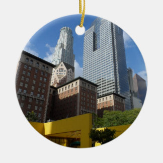 Downtown Los Angeles Ceramic Ornament