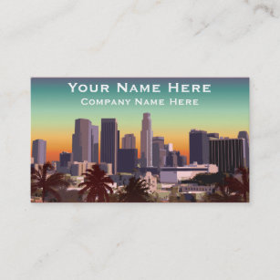 City of los angeles business cards zazzle au downtown los angeles customisable image business card reheart Image collections