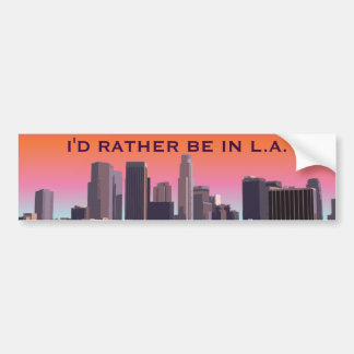 Downtown Los Angeles - Customizable Image Bumper Sticker