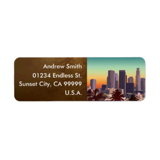 Downtown Los Angeles - Customizable Image Return Address Label