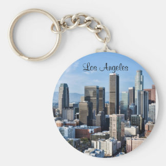 Downtown Los Angeles Daylight Basic Round Button Key Ring
