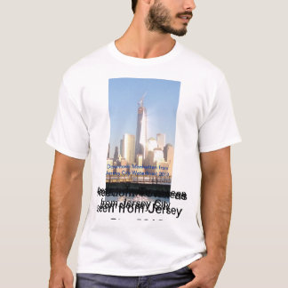 Downtown Manhattan as seen from Jersey City T-Shirt