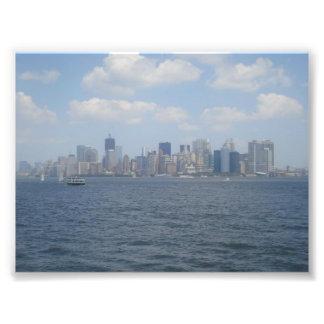 Downtown Manhattan from Hudson River Photograph