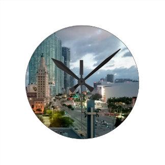Downtown Miami Round Clock