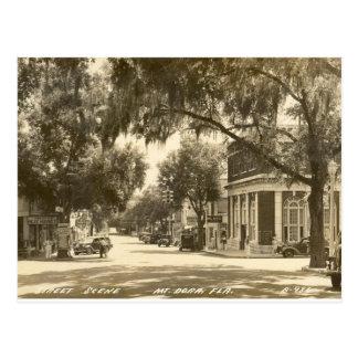 Downtown, Mount Dora, FL - 1947 Postcard