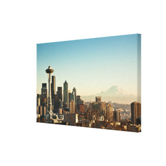 Downtown Seattle skyline and Space Needle Canvas Print
