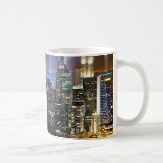 Downtown Singapore city at night Coffee Mug