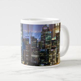 Downtown Singapore city at night Large Coffee Mug
