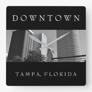 Downtown Tampa | Skyscraper Square Wall Clock