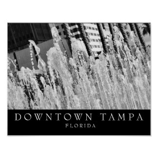 Downtown Tampa | Water Fountain Poster