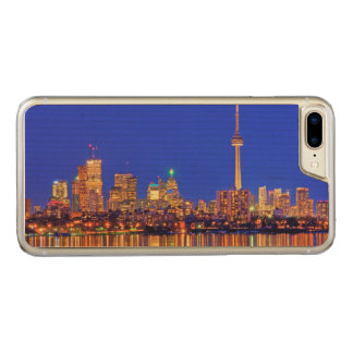 Downtown Toronto skyline at night Carved iPhone 7 Plus Case