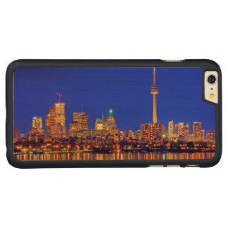 Downtown Toronto skyline at night Carved® Maple iPhone 6 Plus Case