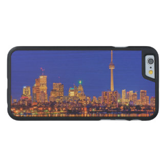 Downtown Toronto skyline at night Carved® Maple iPhone 6 Slim Case