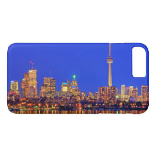Downtown Toronto skyline at night iPhone 8 Plus/7 Plus Case