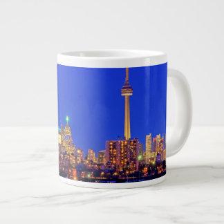 Downtown Toronto skyline at night Large Coffee Mug