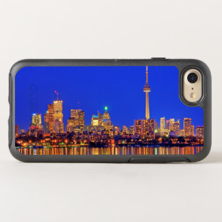 Downtown Toronto skyline at night OtterBox Symmetry iPhone 8/7 Case