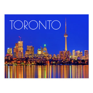 Downtown Toronto skyline at night Postcard
