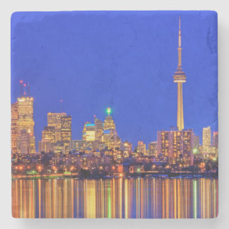 Downtown Toronto skyline at night Stone Coaster