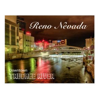 Downtown Truckee River Bridge Postcare Postcard