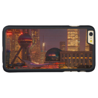 Downtown waterfront shanghai, China Carved Maple iPhone 6 Plus Case