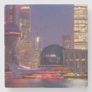 Downtown waterfront shanghai, China Stone Beverage Coaster