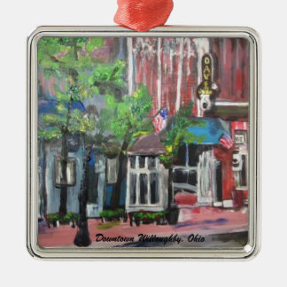 Downtown Willoughby, Ohio Painting Ornament