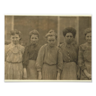 Downtrodden textile mill girls of Payne Mill Photo Print