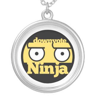 Downvote Ninja Round Pendant Necklace