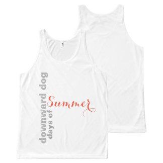 Downward Dog Days of Summer All-Over Print Singlet