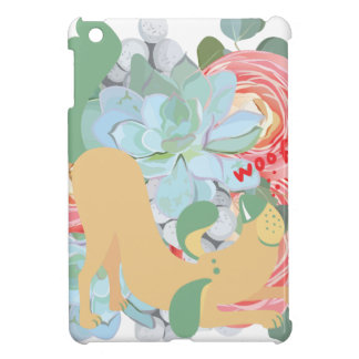 Downward Dog with Flowers iPad Mini Covers