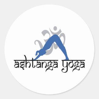 Downward Facing Dog Ashtanga Yoga Round Sticker