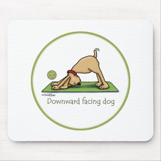 Downward Facing Dog Cartoon Mouse Pad