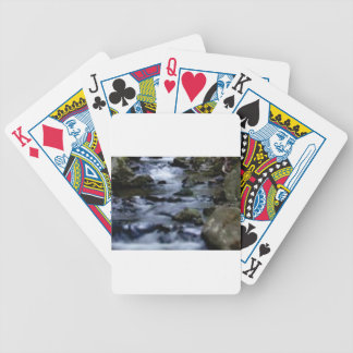 downward flow of creek bicycle playing cards